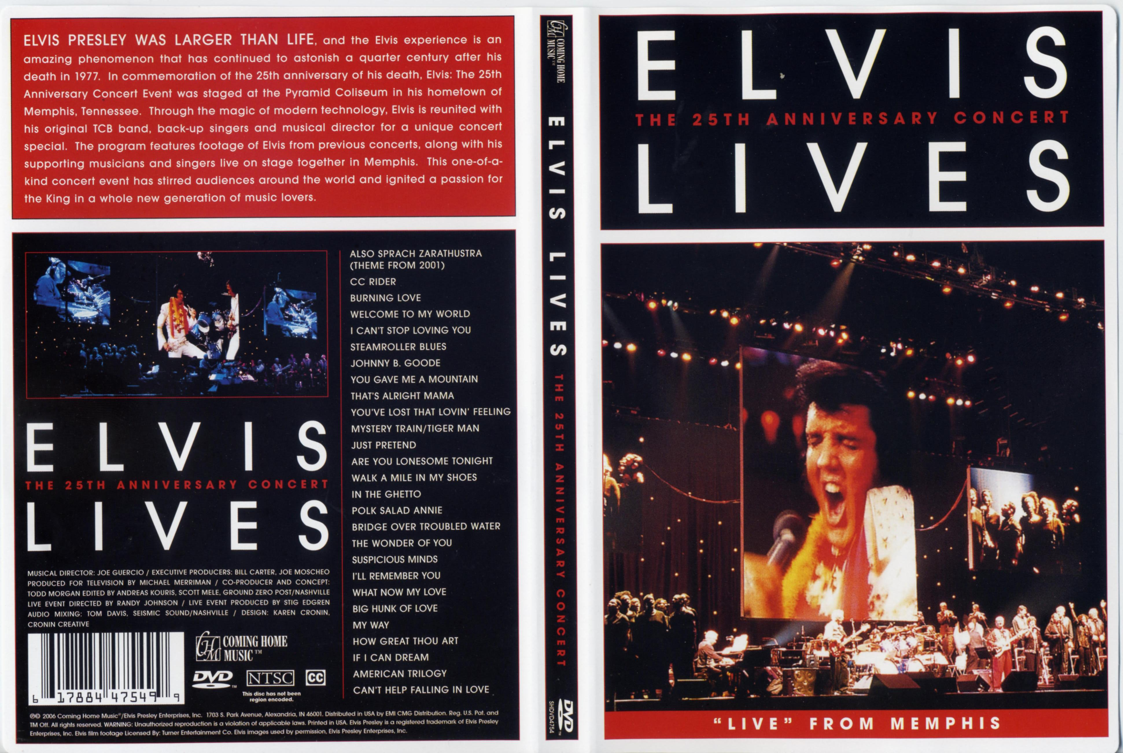 elvis lives 25th anniversary concert dvd