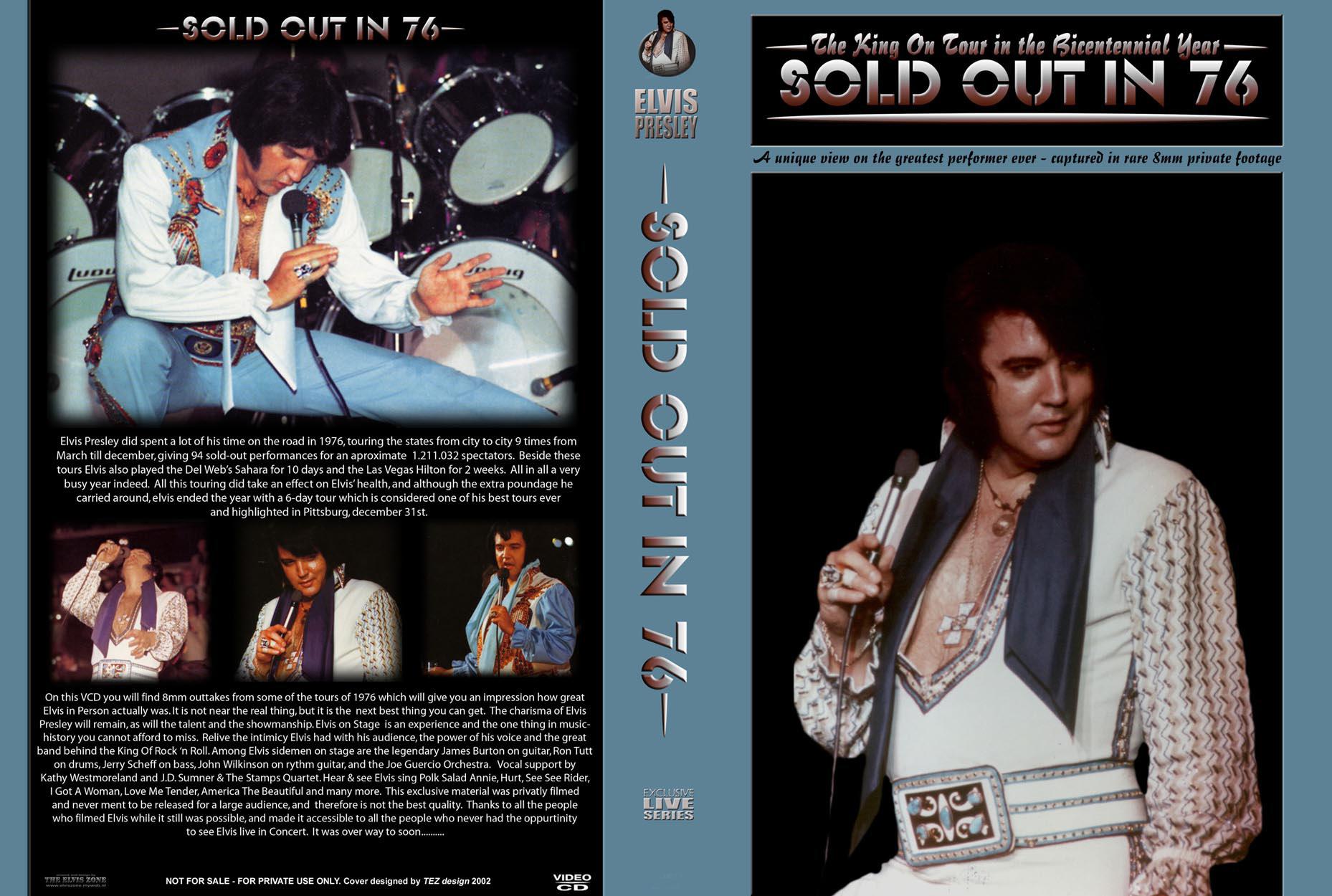 Resultado de imagem para Elvis SOLD OUT IN 76